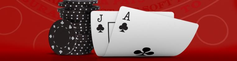 blackjack casino chips and cards